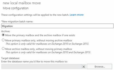 Move the primary mailbox and the archive mailbox if one exists