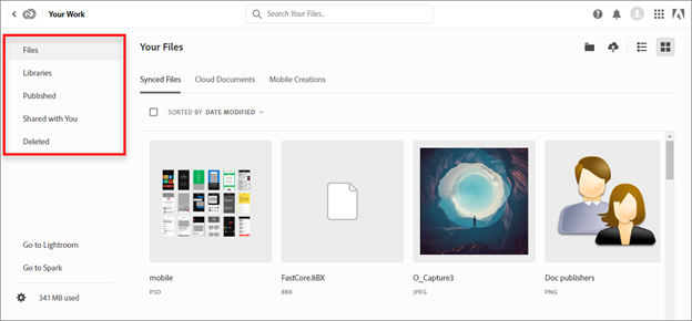 Deleted folder in Adobe Creative Cloud - PSD file recovery