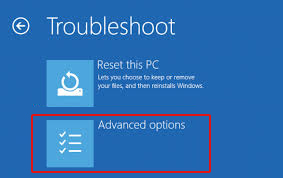 click-advanced-options-on-troubleshoot-window