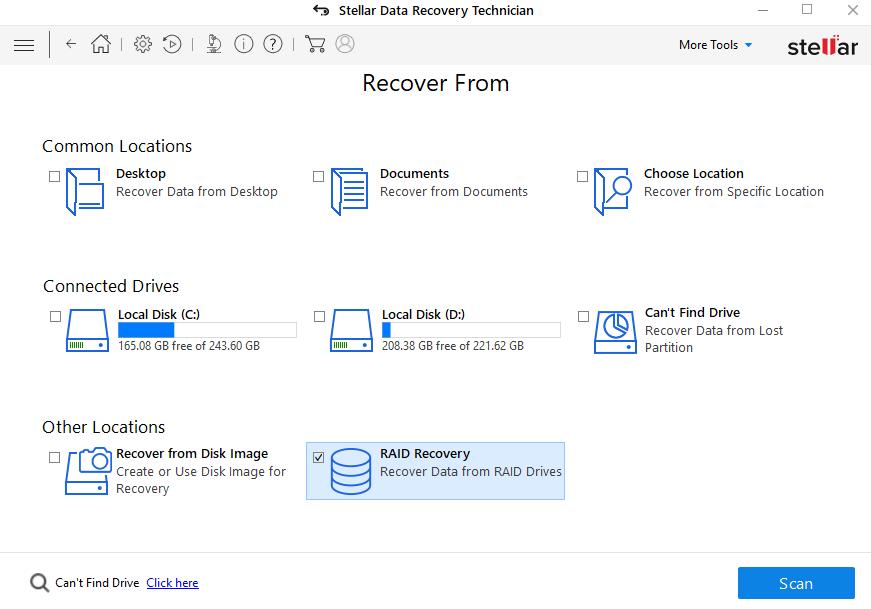 RAID DATA RECOVERY SCREEN