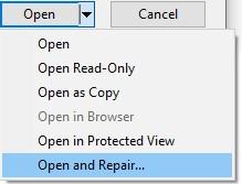 run open and repair