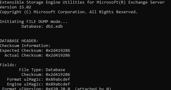 Check exchange database shutdown state