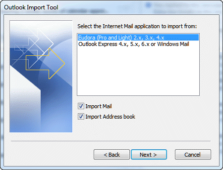 Outlook Import Tool