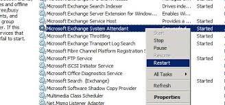 restart MS Exchange services
