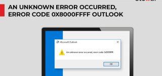 Outlook error code 0x8000ffff
