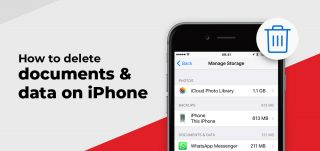 Delete iPhone documents and data