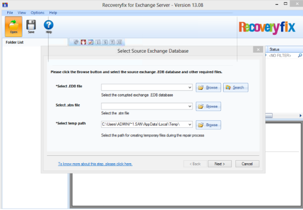 Recoveryfix for Exchange Server