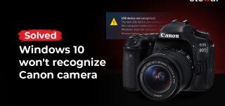 Canon camera on Windows 10