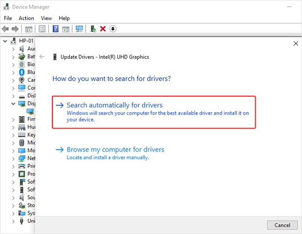 select-search-automatically-for-drivers