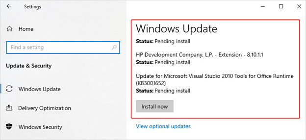 install-windows-update-from-system-settings