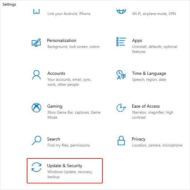 select-update-&-security-from-system-settings-app