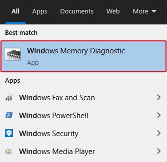 open-windows-memory-diagnostic