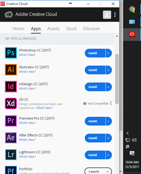 Install Photoshop CC in Creative Cloud Desktop app