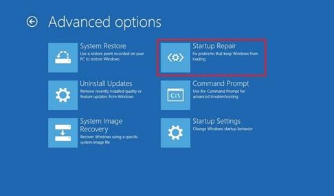 select-startup-repair