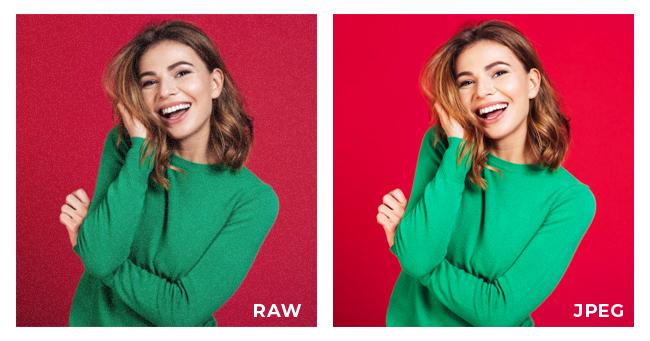 RAW vs JPEG comparison