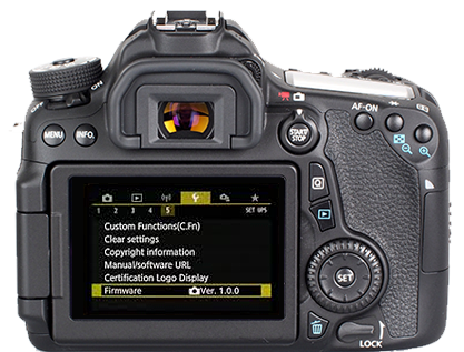 Canon EOS 70D Firmware Ver -fix error