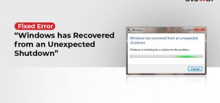 Windows has recovered from unexpected shutdown