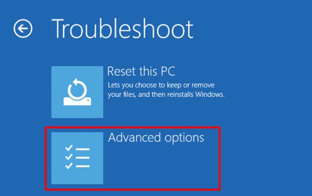select-advanced-options-on-troubleshoot-screen