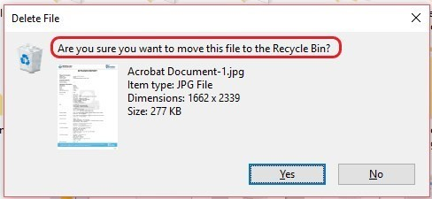 Recycle Bin Prompt