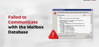 Failed to Communicate with the Mailbox Database