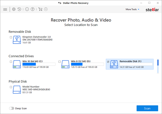 SD card removable disk in the software