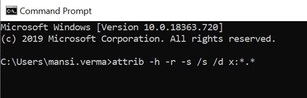 run-attrib-command