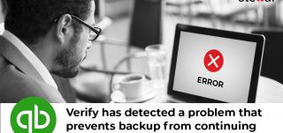 QuickBooks Error: Verify has detected a problem that prevents backup from continuing