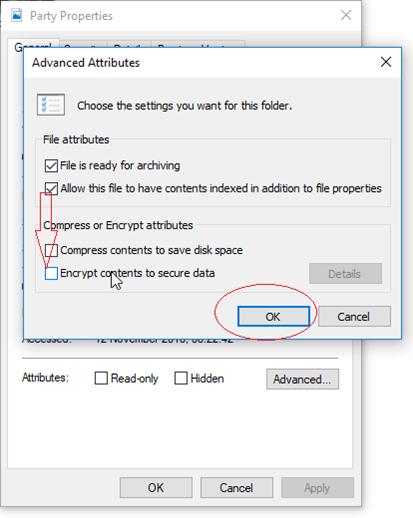 Advanced box of image file