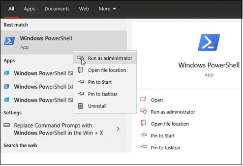 Windows PowerShell in Windows 10