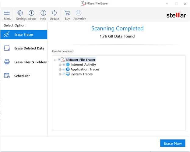 Erasing Temporary files with BitRaser