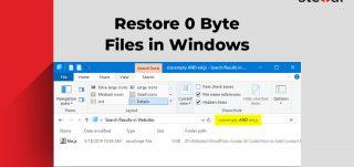 restore 0 byte files in Windows