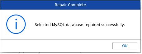 MySQL database repaired