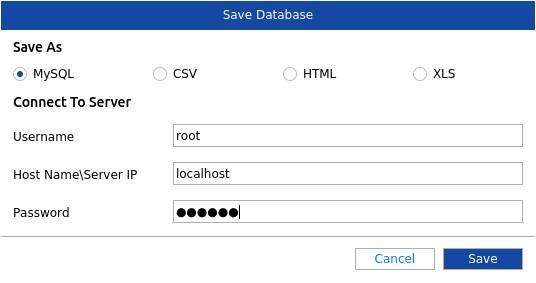 MySQL repaired database file saving options