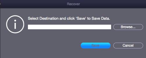 Dateipfad zur Wiederherstellung auswählen