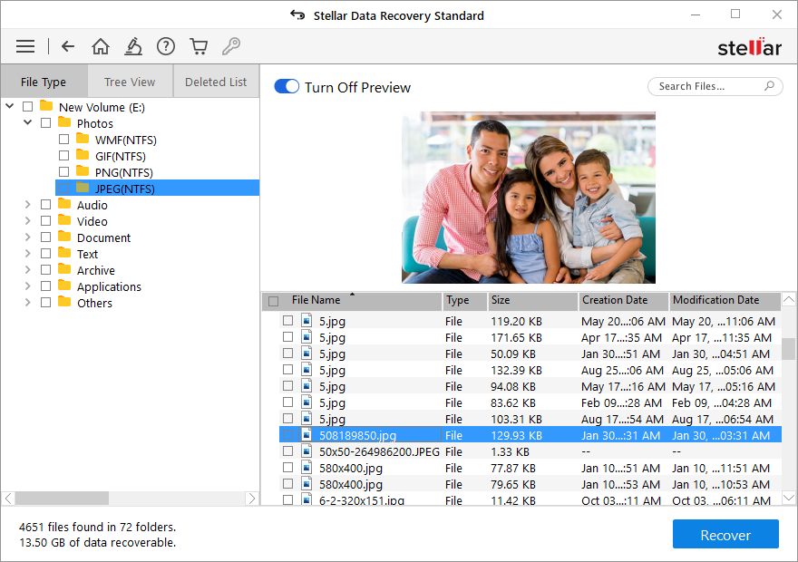 Stellar Data Recovery Standard - Preview