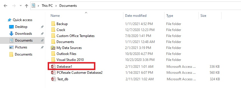 Compacted and Repaired Database Copy