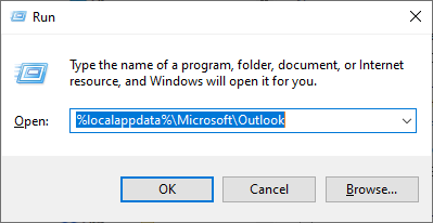 Windows + R keys to launch Run