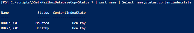 database state as healthy