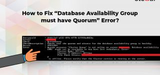 How to Fix Database Availability Group must have Quorum Error