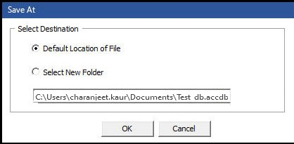 Save Repaired File at a Desired Location