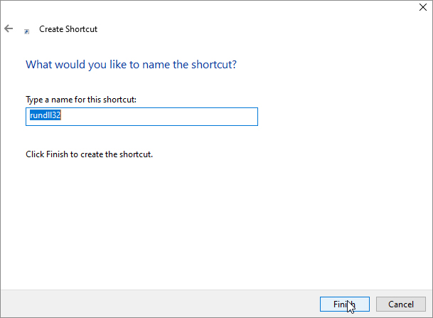 Enter a name for the Windows Photo Viewer shortcut