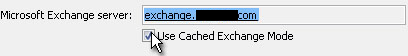 Use Cached Exchange Mode