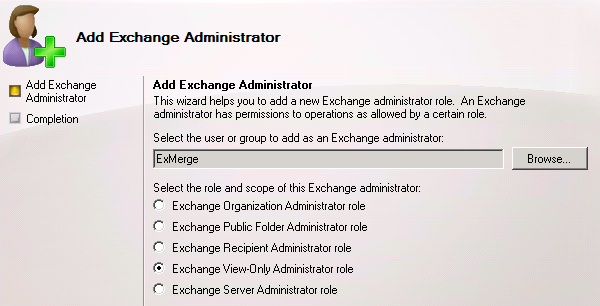 Add Exchange Administrator