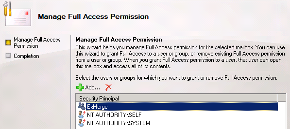 Manage Full Access Permissions
