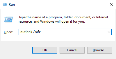 MS Outlook in safe mode