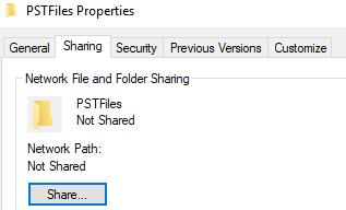 Sharing tab and click Share