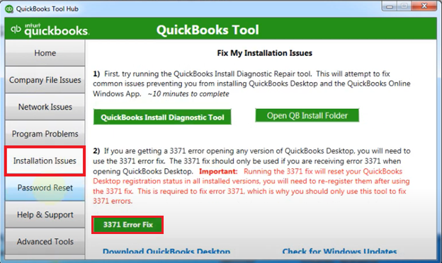 3371 Error Fix