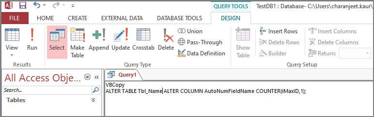 Query in Access