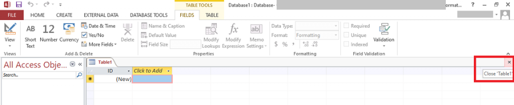 Close the Database Table