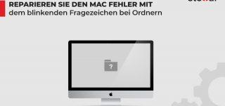 Reparieren Sie den Mac Fehler mit dem blinkenden Fragezeichen bei Ordnern
